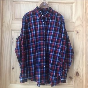 American Living plaid button front shirt size XL